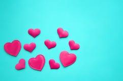 Różowi serca na tle Zdjęcia Stock