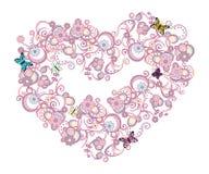 różowy abstrakcyjnych serce Zdjęcia Stock