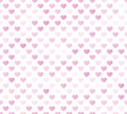 Różowy bezszwowy serce wzór Fotografia Stock