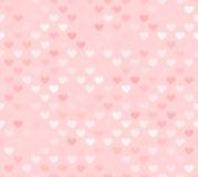 Różowy bezszwowy serce wzór Zdjęcie Royalty Free