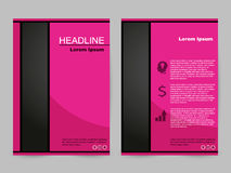 Różowy broszurka projekt Fotografia Stock