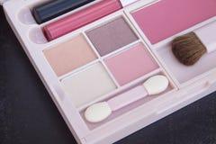 Różowy brzmienia makeup set Fotografia Royalty Free