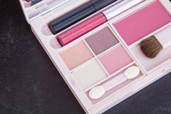 Różowy brzmienia makeup set Zdjęcia Stock