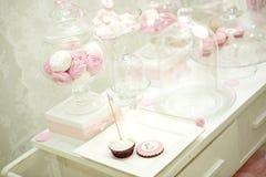 Różowy cukierku bar Zdjęcia Stock