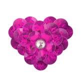 Różowy diamentowy serce Obraz Royalty Free