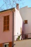 Różowy dom w Palmie de Mallorca Fotografia Royalty Free