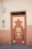 Różowy drzwi Obrazy Stock