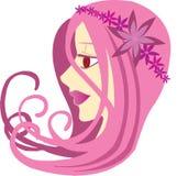 różowy dziewczyn. royalty ilustracja
