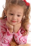 Różowy dziewczyny spojrzenia puszek Zdjęcia Royalty Free