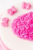 Różowy galareta tort Fotografia Stock