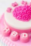 Różowy galareta tort Zdjęcie Stock