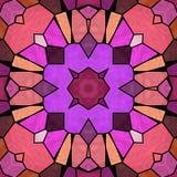 Różowy i purpurowy kalejdoskop, bezszwowa tekstura z ornamentami ilustracja wektor
