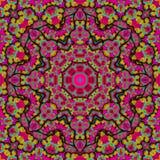 Różowy kalejdoskop ilustracja wektor
