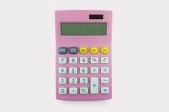 Różowy kalkulator Fotografia Royalty Free