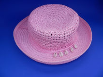 różowy kapelusz. Fotografia Royalty Free