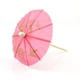 różowy koktajlu parasol Fotografia Stock