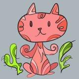 Różowy kot ilustracji