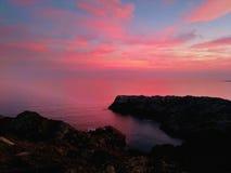 Różowy krajobraz Obrazy Royalty Free