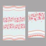 Różowy kwiat i falowy wzór dla tablecloth Fotografia Royalty Free