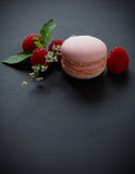 Różowy macaroon Zdjęcia Royalty Free