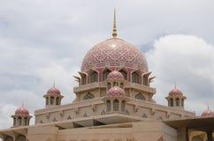 Różowy meczet, Putrajaya Obrazy Royalty Free