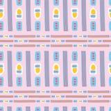 Różowy Memphis wektoru Stylowy Geometryczny Abstrakcjonistyczny Bezszwowy wzór Royalty Ilustracja