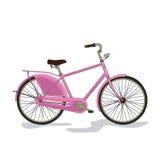 Różowy miasto bicykl Zdjęcie Stock