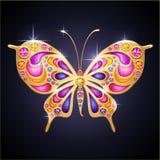 Różowy motyl Obrazy Stock