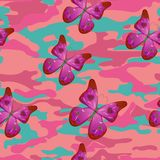 Różowy motyl Zdjęcia Stock