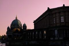 Różowy niebo w Berlin zdjęcia royalty free