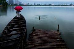Różowy parasol Fotografia Stock