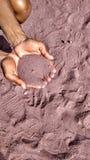 Różowy piasek Zdjęcia Royalty Free