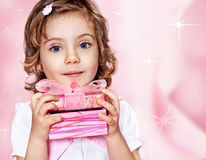 Różowy prezent Zdjęcia Stock