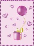 Różowy prezent Zdjęcia Royalty Free