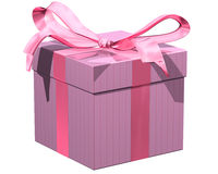 różowy prezent Zdjęcie Stock