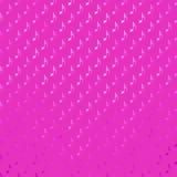 Różowy Purpurowy Muzykalnych notatek Faux folii polki kropki kropek Kruszcowy wzór Fotografia Stock