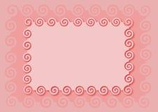 różowy ramowych Obrazy Royalty Free