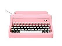 Różowy rocznika maszyna do pisania Zdjęcia Royalty Free
