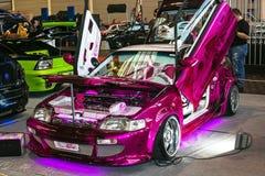Różowy samochód Obrazy Royalty Free