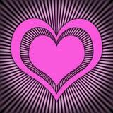 różowy serce Zdjęcie Stock