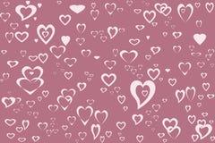różowy serce royalty ilustracja