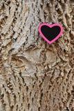 Różowy serce na barkentynie Fotografia Stock