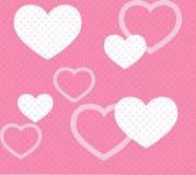 Różowy serce wzór Zdjęcie Stock