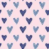 Różowy serce wzór Zdjęcia Royalty Free