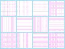 Różowy siatki linii bezszwowy wzór royalty ilustracja