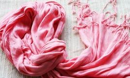 różowy szalik Zdjęcie Royalty Free