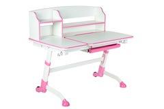 Różowy szkolny biurko Zdjęcie Royalty Free