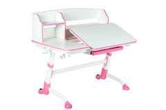 Różowy szkolny biurko Obraz Stock