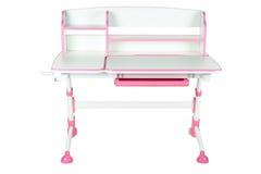 Różowy szkolny biurko Fotografia Royalty Free