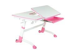 Różowy szkolny biurko Obraz Royalty Free